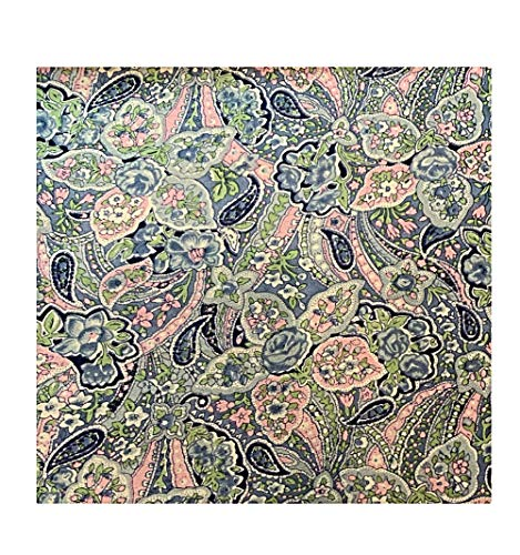 Cowboy Wild Rag Paisley Blue with Pink