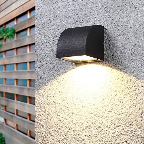 ROIY Luci Angolari For Scale Luce Staffa Impermeabile Semplice Balcone Creativo Applique Da Parete For Esterni Nordic Moderno Cortile Giardino Corridoio Anteriore Luci A LED Lampada Da Parete For Este