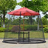 YUGN Umbrella Table Screen - Outdoor Moustiquaire de Parasol de Jardin avec...