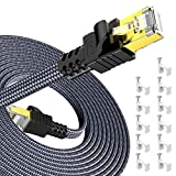 31M Câble Ethernet CAT7, External & Internal LAN Cable Snowkids 10Gbit/s 600MHz...