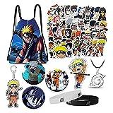 Naruto Sac avec autocollant pour téléphone portable, collier, bracelet,...