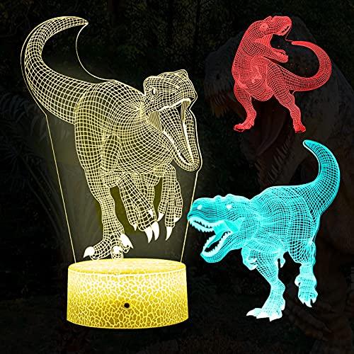 【2021進化版】INFURIDER イルミネーション 恐竜ナイトライト デスクランプ 恐竜のおもちゃ 子供用 7色変換 リモコン テーブルランプ ライト装飾 ナイトライト 保育園 部屋飾り物 誕生日ギフト 新年祝日プレゼント