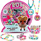 L.O.L. Surprise! Secret Message Jewelry by Horizon Group USA, DIY Jewelry Making Craft Kit, Includes 400+ Beads & Charms, Sticker Sheets, Secret Decoder & More. Multicolored (Toy)
