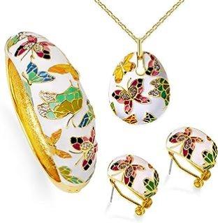 Conjunto Pendientes Collar Primavera Versalles