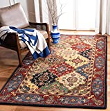 Safavieh Heritage Collection HG926A Handmade Traditional Oriental Premium Wool Area Rug, 8' x 10', Red / Multi