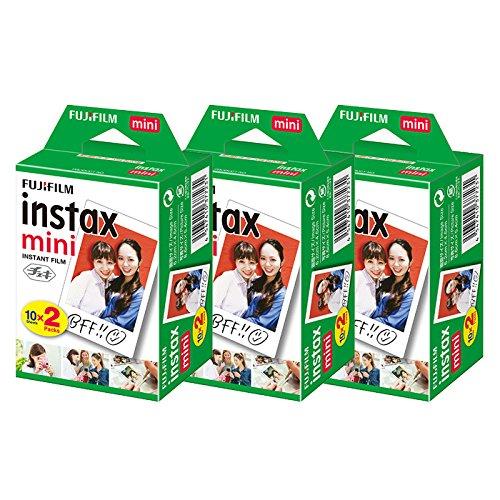 富士フィルム チェキフィルム instax mini 2パック品 JP2(20枚入り)×3個セット 60枚入