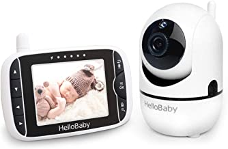 Baby Monitor with Remote Pan-Tilt-Zoom Camera and 3.2'' LCD Screen, Infrared..