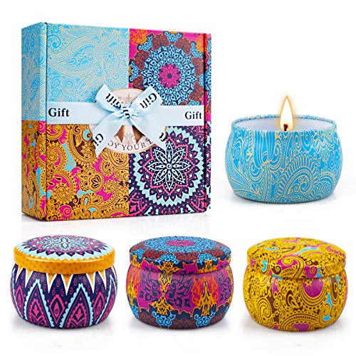 Yinuo Candle Scented Candles Gifts Set for Women,Portable...