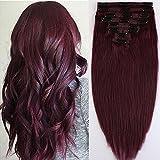 Extension a Clip Cheveux Naturel MAXI VOLUME Rajout 8 Bandes - Double Weft...