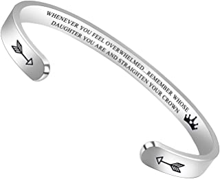 BTYSUN Inspirational Bracelets for Women Teen Girls Personalized Birthday Cuff Bracelet..