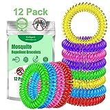 Entligent [Lot de 12] Bracelet Anti-Moustique, Bracelets Anti-Moustiques 100% Naturel- Répulsif...