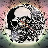 fdgdfgd Disco de Vinilo clásico del Reloj de Pared del Art déco de Rose del Registro de CD | Reloj de Pared Colgante de 7 Colores