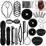 Accessoires de Coiffure, ivencase 28pcs Hair Styling Accessories Kit Mode Élastiques Pince Coiffure...