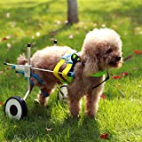 New Adjustable Dog Wheelchair (XS) , Hip Height: 7.5'--14', Hip Width:5.5'--8.7', Weight: 4.4--17.6lbs, Hind Legs Rehabilitation, Free Belly Band Protect Spine, Free Leash