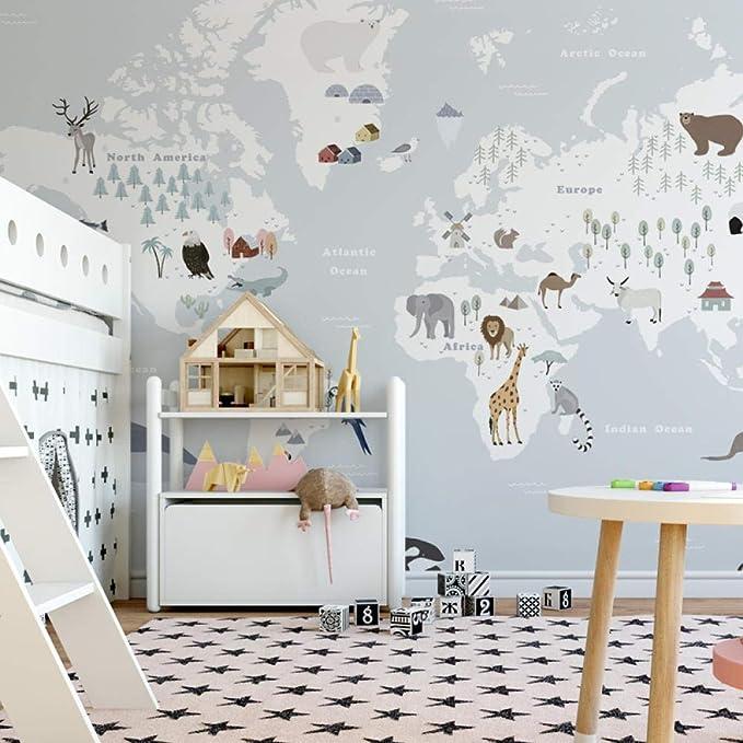 Children Room Boy Girl Background Wall Bedroom Minimalist Nordic Cartoon Girl Room Seamless Wallpaper 430300cm Amazon Com