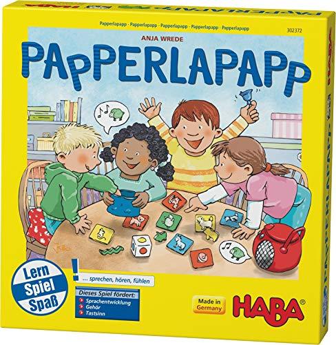 Haba 302372 - Papperlapapp, Lernspielsammlung mit 6 Spielen für Kinder ab 3 Jahren, Lernspiele zur Förderung der Sprachentwicklung, beliebter Haba-Klassiker