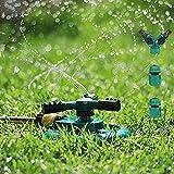 Arroseur de Jardin, Yokunat Arroseur de Pelouse Automatique Rotatif 360° à 3 Bras Arrosage Irrigation pour Pelouse Jardin Champ de Légumes Enfants Jouant...