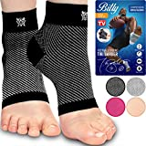 Bitly Plantar Fasciitis Compression Socks for Women & Men - Best Ankle Compression Sleeve, Nano Brace for Everyday Use - Provides Arch Support & Heel Pain Relief
