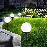 SEFON Lampes Exterieure Solaires De Jardin Au Sol,Exterieure Étanche Lumiere 8 Pack IP44 Globe Stake lumière Pour extérieur Villa pelouse Jardin