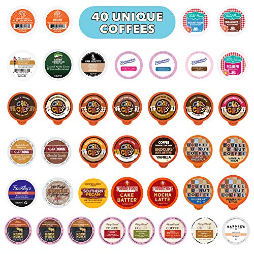 Flavored Coffee Variety Pack, Fully Compatible With All Keurig K Cups Brewers - Perfect Coffee Lovers Gift