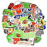 WOKAO Pegatina Deportiva de Rugby, Pegatinas Impermeables para Fiestas temáticas de fútbol, Regalo, Pegatinas y calcomanías para Maletas para Ordenador portátil, 50 Uds.
