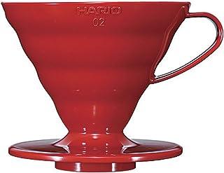 Hario Plastic Coffee Dripper, Size 02, Red