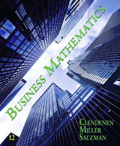 Business Mathematics (12th Edition)