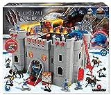 STARLUX – Château Fort le Château Noir avec Chevaliers, Soldats, Dragon et...