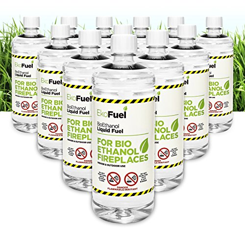 EKOFUEL - Premium BIOETHANOL Fuel for Fires. Free Next Business Working Day Delivery to Mainland UK ONLY for Orders Placed Before 3pm. Bio Ethanol Liquid Fuel for bioethanol Fires. (48L)