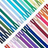💗CERNIERA LAMPADARI IN NYLON BULK: viene fornito con cerniere in nylon di colore assortito da 150 pezzi. Basta per la tua famiglia quotidiana o l'uso artigianale 💗IL PACCHETTO INCLUDE: 150PCS Cerniera a spirale in nylon invisibile da 30 colori, 5 pez...
