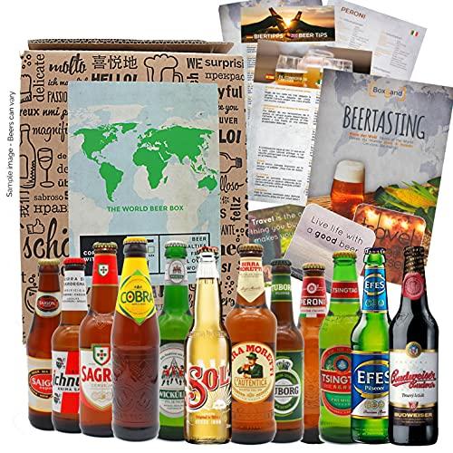 """""""BIRRE DEL MONDO' Selezione di 12 birre più esclusive del mondo. Pacchetto di degustazione. Ottima idea regalo per giovani e adulti."""