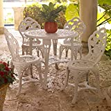 BrylaneHome Bistro Set with 5-Pcs, White
