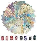 288 piezas de plantillas de arte de uñas, pegatinas de pegatinas de uñas AOBETAK, 24 láminas de...