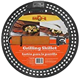 Mr. Bar-B-Q 06750X Heavy Duty Non-Stick Grilling Skillet | Rust Resistant Grill Pan with Handles | Easy to Use Grilling Accessories | Non-Stick Surface | Great for Seafood & Vegetables