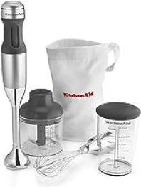 KitchenAid KHB2351CU 3-Speed Hand Blender - Contour Silver, 8 inches
