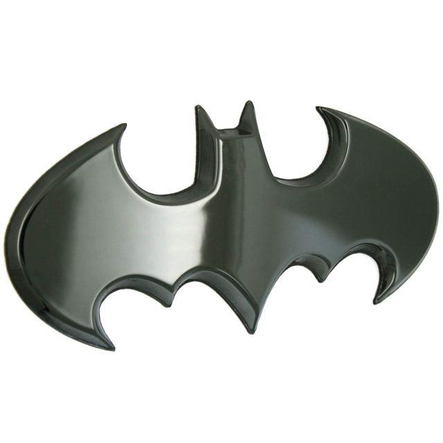 Fan Emblems Batman 26D Car Badge - 26 Batwing Logo (Black Chrome)