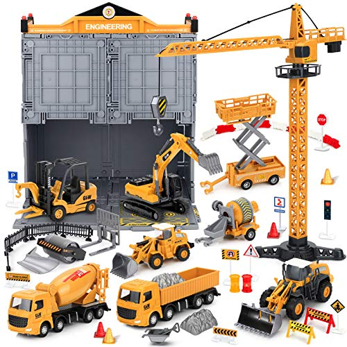 Construction Truck Toys with Crane for 2 4 5 6 Years Old...