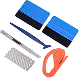 Vehicle Vinyl Wrap Window Tint Film Tool Kit Include 4 Inch Felt Squeegee, Retractable..