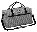 London Fog Cambridge II 20' Duffle, Black White Houndstooth