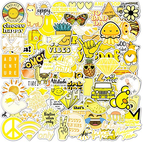 100 Yellow VSCO Stickers