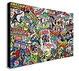 Impression sur toile Marvel Comics, collage muraux, plusieurs dimensions...