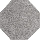 Rugs.com Everyday Shag Rug – Light Gray 6 Ft Octagon Shag Rug Perfect for Living Rooms, Kitchens, Dining Areas and More