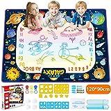JOYSPACE Su Çizim Boyama Sihirli Kara Tahta Su Mat Doodle Su Paspasları Doodle Hediyeler Çizim Oyunları Oyuncaklar Eğitici Erkek Kız 3 4 5 6 7 8 yaşında-120 * 90cm