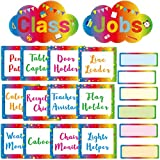 Classroom Jobs Chart Set Colorful Rainbow Bulletin Board Decoration for Back to School