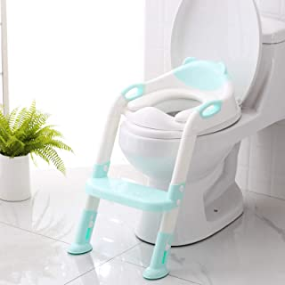Potty Training Seat with Step Stool Ladder,SKYROKU Potty Training Toilet for Kids Boys..