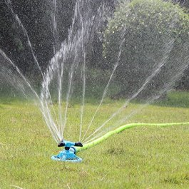 Kadaon Lawn Sprinkler Automatic Garden Water Sprinklers Lawn Irrigation System 3600 Square Feet Coverage Rotation 360 Degree