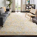 Safavieh Evoke Collection EVK224B Contemporary Bohemian Gold and Ivory Area Rug (5'1' x 7'6')
