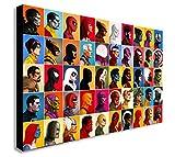 Impression sur toile Marvel Comics, collage de portraits, plusieurs dimensions...