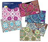 (6) RFID Blocking Sleeves Credit Card Holder, Vera Bradley Inspired to Protect Your Identity from...