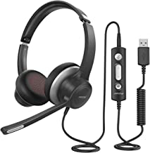 Mpow HC6 USB Headset with Microphone, Comfort-fit Office Computer Headphone, On-Ear 3.5mm..